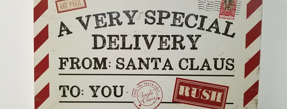 Sign - A Very Special Deliver - 11.5 X 17 inches