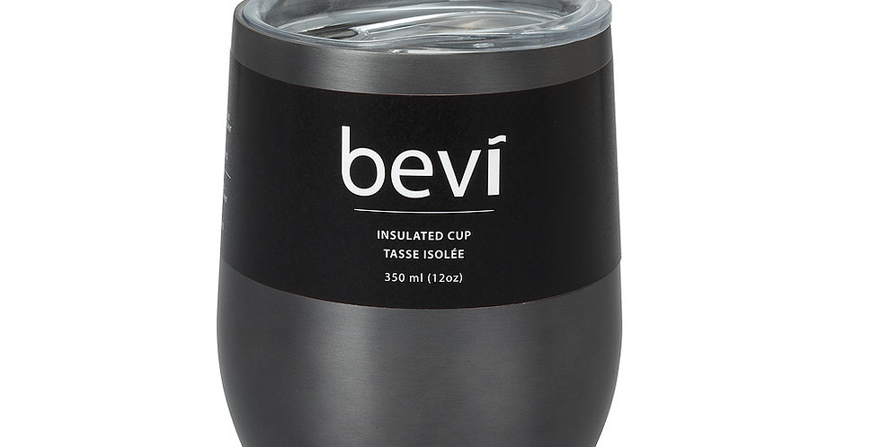 Bevi Insulated Wine Tumbler - 12 oz - Grey   (33728)