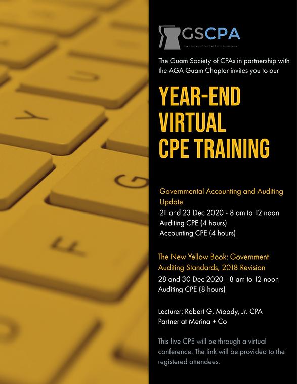 GSCPA Virtual Year-End CPE December 2020