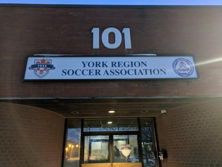 Thank youYork Region Soccer Association!