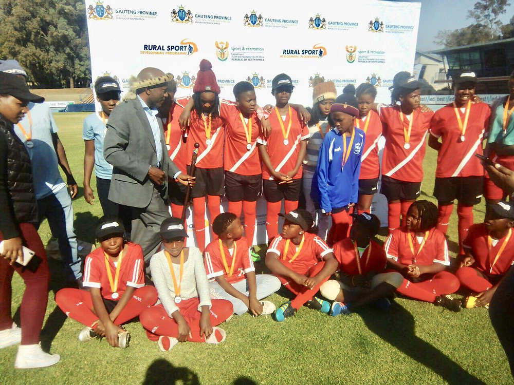 football team of young women (age 15) from Kromdraai (a township in Johannesburg, South Africa) came second out of 16 teams in the Gauteng Rural Provincial Games