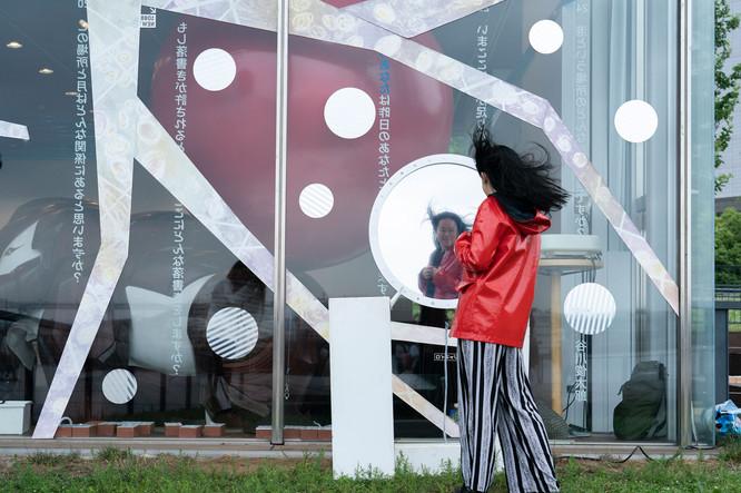 No011 あるいはあの時起こり得たかもしれないもう一つの世界の可能性につながるボタン // 慶應義塾大学メディアデザイン研究科Unexpected Cityプロジェクト Photo:Hajime Kato