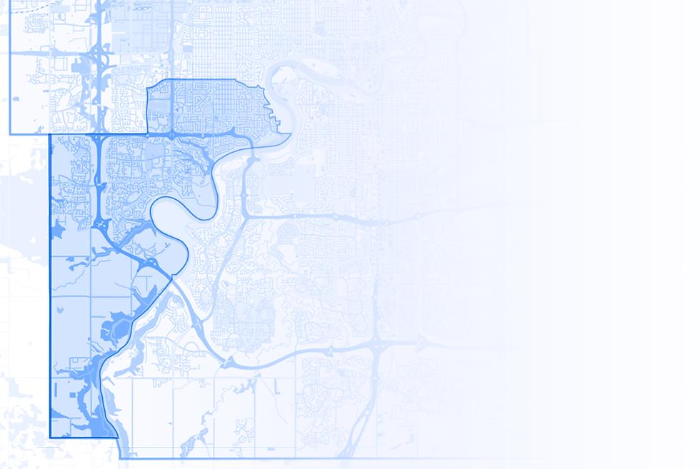 A blue map of Ward sipiwiyiniwak.