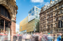 exterior architectural photography of new offices designed by Hoskins Architects in Edinburgh