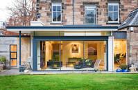 contemporary-glazed-house-extension-period-property-dusk-architectural-photographer-edinburgh
