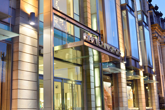 Harvey-Nichols-edinburgh-entrance-lighting-architectural-dusk-photography