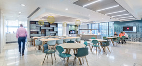 modern office canteen to Aberdeen Standard Investments offices