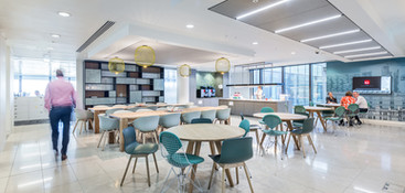 modern office canteen to Aberdeen Standard Investments offices