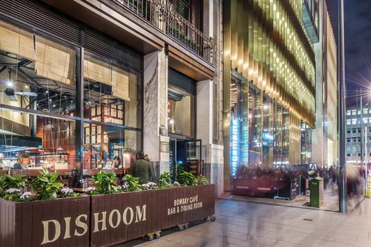 Dishoom-Edinburgh-night-photography-diners-inside-people-moving