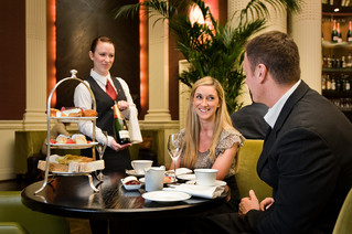Commercial photography of afternoon tea service at the Balmoral Hotel
