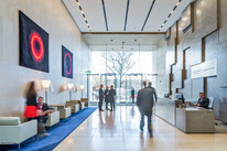 interior office photography of the reception to Aberdeen Standard Investments in Edinburgh