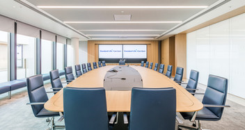 interior office photography of main boardroom in Aberdeen Standard Investments new offices