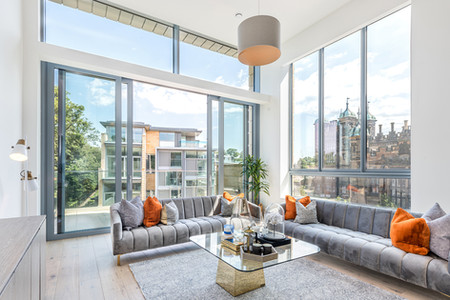 Cala-Homes-duplex-tall-living-space-amazing-view-showhome-photography