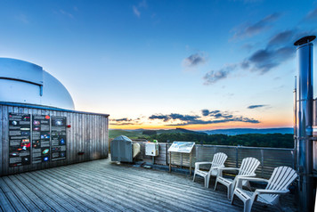 the observation deck at the Scottish Dark Sky Observatory exterior dusk photography