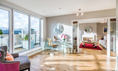 Cala-Homes-penthouse-timber-floor-hallway-patio-doors-showhome-photographer