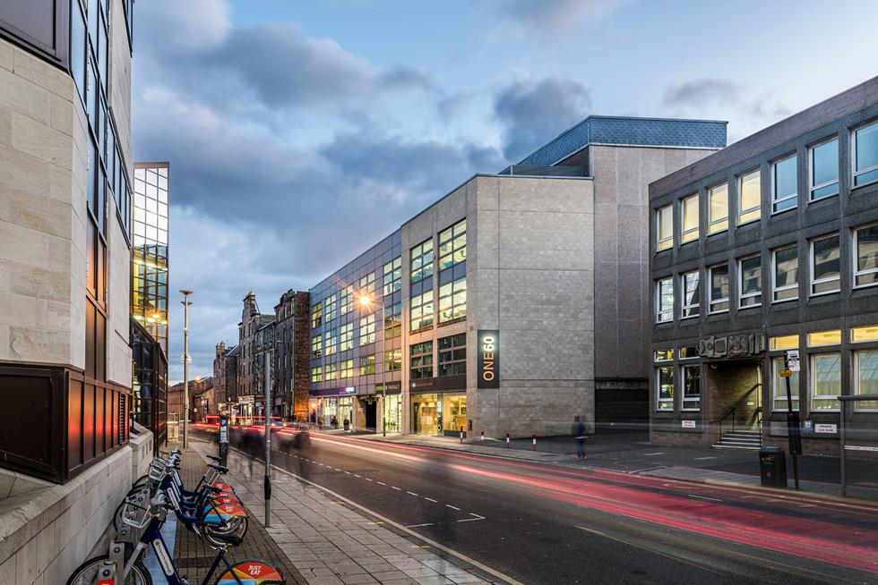 busy-street-dusk-car-light-trails-office-dusk-architectural-photographer-edinburgh