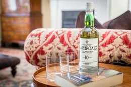 holiday let photography - highland whisky glasses book