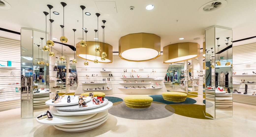Harvey-Nichols-Edinburgh-shoe-department-interior-photography