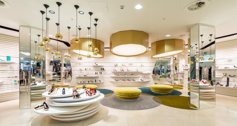 Harvey-Nichols-Edinburgh-shoe-department-interior-photography