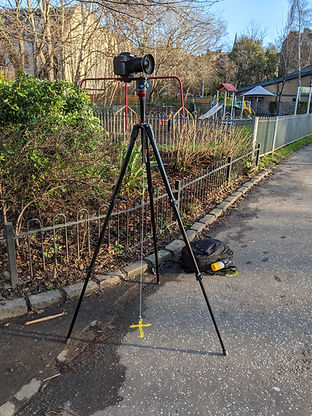 verified-photography-edinburgh-tripod-plumb-bob-road-marker