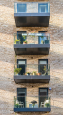 apartment-glass-balustrade-balconies-brickwork-architectural-photographer
