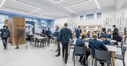 students modern school canteen interior school photography
