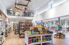 interior photography of the shop and cafe at Restoration Yard