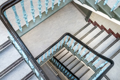 refurbished stairwell of former Parkhead School in Glasgow interior architectural photography