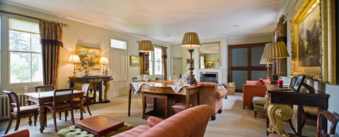 interior architectural photography of period self catering lounge