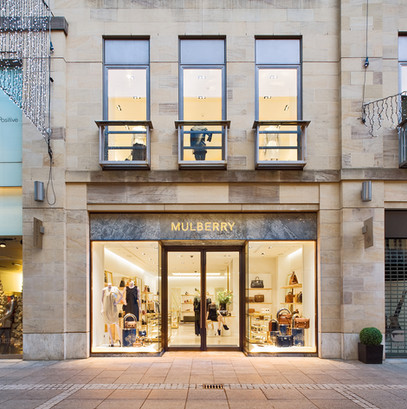 Mulberry-Edinburgh-store-front-dusk-photography