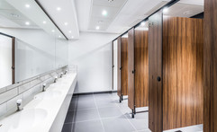 interior photography of staff toilets at Tesco Bank