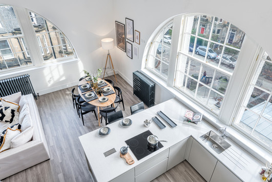 Cala-Homes-looking-down-kitchen-island-timber-floor-refurbished-showhome-photography
