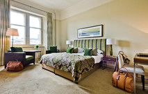 five star hotel bedroom interior architectural photograph
