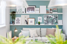Barratt-Homes-lifestyle-white-shelves-photo-frames-showhome-photography