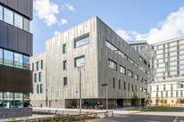 metal technologies cladding to offices in glasgow, exerior architectural photography