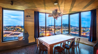 interior-view-edinburgh-cityscape-dining-area-dusk-architectural-photography