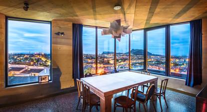 interior-view-edinburgh-cityscape-dining-area-dusk-architectural-photography