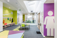 modern school circulation space interior architectural photography