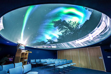 interior photography of the planetarium at the Dark Sky Observatory
