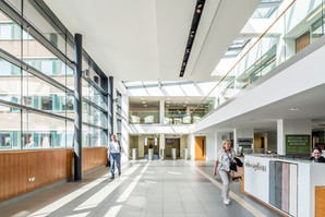 atrium space at Meadowbank House offices in Edinburgh, office interior photography