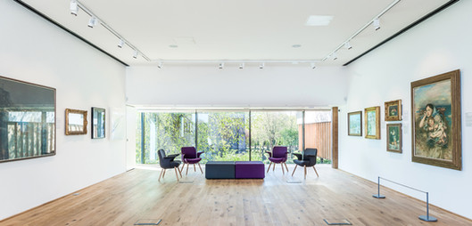 interior photography of gallery space to Carnegie Art Galleries in Dunfermline