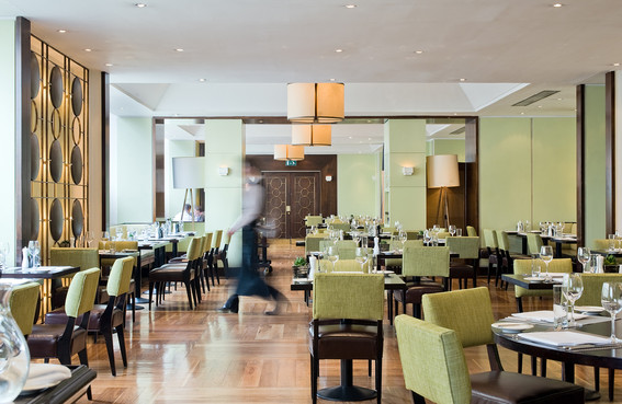 interior hotel photography of the restaurant at the Balmoral Hotel in Edinburgh