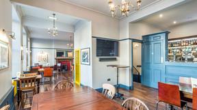 interior architectural photography of the Cambridge Bar in Edinburgh