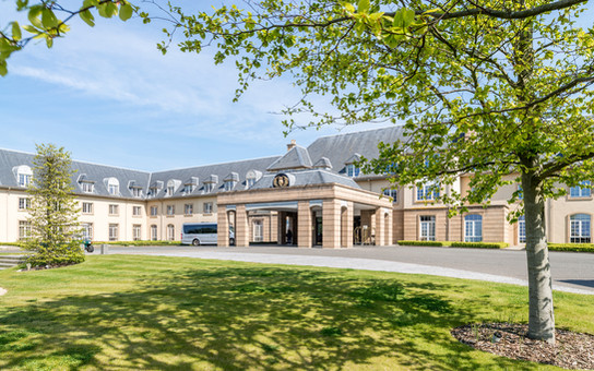 exterior hotel photography of the entrance to the Fairmont Hotel in St Andews