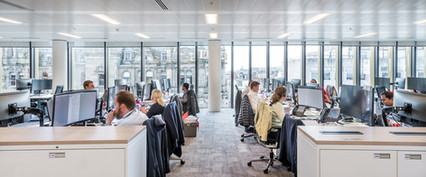 people at work in modern office space on St Andrew Square in Edinburgh