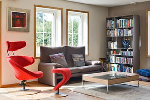 cool-living-room-red-armchair-bookcase-interior-photographer