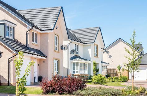 Barratt-Homes-rendered-houses-green-gardens-sunshine-street-scene-photography