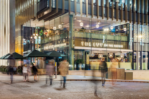 The-Ivy-Edinburgh-night-photography-diners-pedestrians-moving