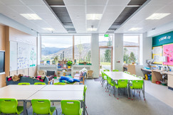 modern bright school classroom interior school photography