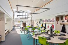 interior schools photography: school computer hub area